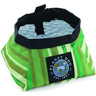 Planet Dog On the Go Food & Water Travel Dog Bowl, Forest Green, Large