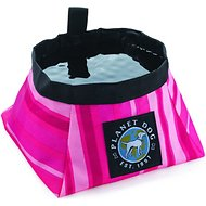 Planet Dog On the Go Food & Water Travel Dog Bowl, Sunset Pink, Small