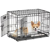 MidWest LifeStages Double Door Dog Crate, 22-in