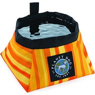 Planet Dog On the Go Food & Water Travel Dog Bowl, Harvest Orange, Large