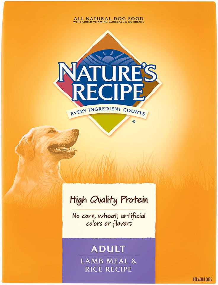 Nature S Recipe Adult Lamb Meal Rice Recipe Dry Dog Food 30 Lb