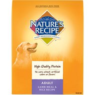 Nature's Recipe Adult Lamb Meal & Rice Recipe Dry Dog Food, 30-lb bag