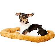 MidWest Quiet Time Fleece Pet Bed and Crate Mat, Cinnamon, 22-inch
