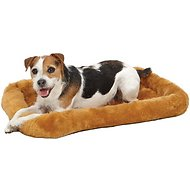 MidWest Quiet Time Fleece Pet Bed and Crate Mat, Cinnamon, 24-inch
