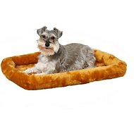 MidWest Quiet Time Fleece Pet Bed and Crate Mat, Cinnamon, 30-inch