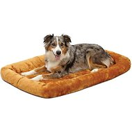 MidWest Quiet Time Fleece Pet Bed and Crate Mat, Cinnamon, 42-inch