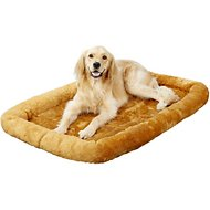 MidWest Quiet Time Fleece Pet Bed and Crate Mat, Cinnamon, 48-inch