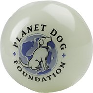 Planet Dog Glow For Good Ball For Dogs, 3-in