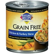 Nature's Recipe Grain-Free Chicken & Turkey Stew Canned Dog Food, 10-oz, case of 24