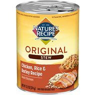 Nature's Recipe Easy-To-Digest Chicken, Rice & Barley Recipe Cuts in Gravy Stew Canned Dog Food, 13.2-oz, case of 12