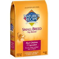 Nature's Recipe Small Breed Toy Breed Chicken, Barley & Rice Recipe Dry Dog Food, 4-lb bag