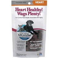 Ark Naturals Gray Muzzle Heart Health Senior Dog Treats, 4.23-oz bag, 60 count