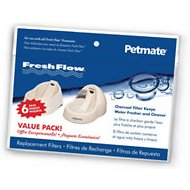 Petmate Deluxe Fresh Flow Replacement Filters, 6 count