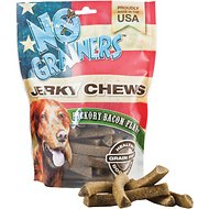 No Grainers Hickory Bacon Flavor Jerky Chews Grain-Free Dog Treats, 16-oz bag