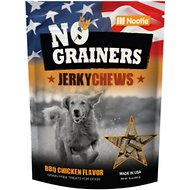 No Grainers BBQ Chicken Flavor Jerky Chews Grain-Free Dog Treats, 16-oz bag
