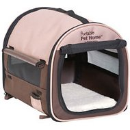 Petmate Portable Pet Home, Dark Taupe/Coffee Grounds Brown, Small