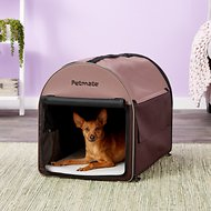 Petmate Portable Pet Home, Dark Taupe/Coffee Grounds Brown, Medium