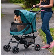 Pet Gear Happy trails No-Zip Pet Stroller, Emerald
