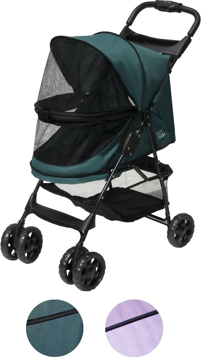 Pet Gear Happy trails No-Zip Pet Stroller, Emerald - Chewy.com