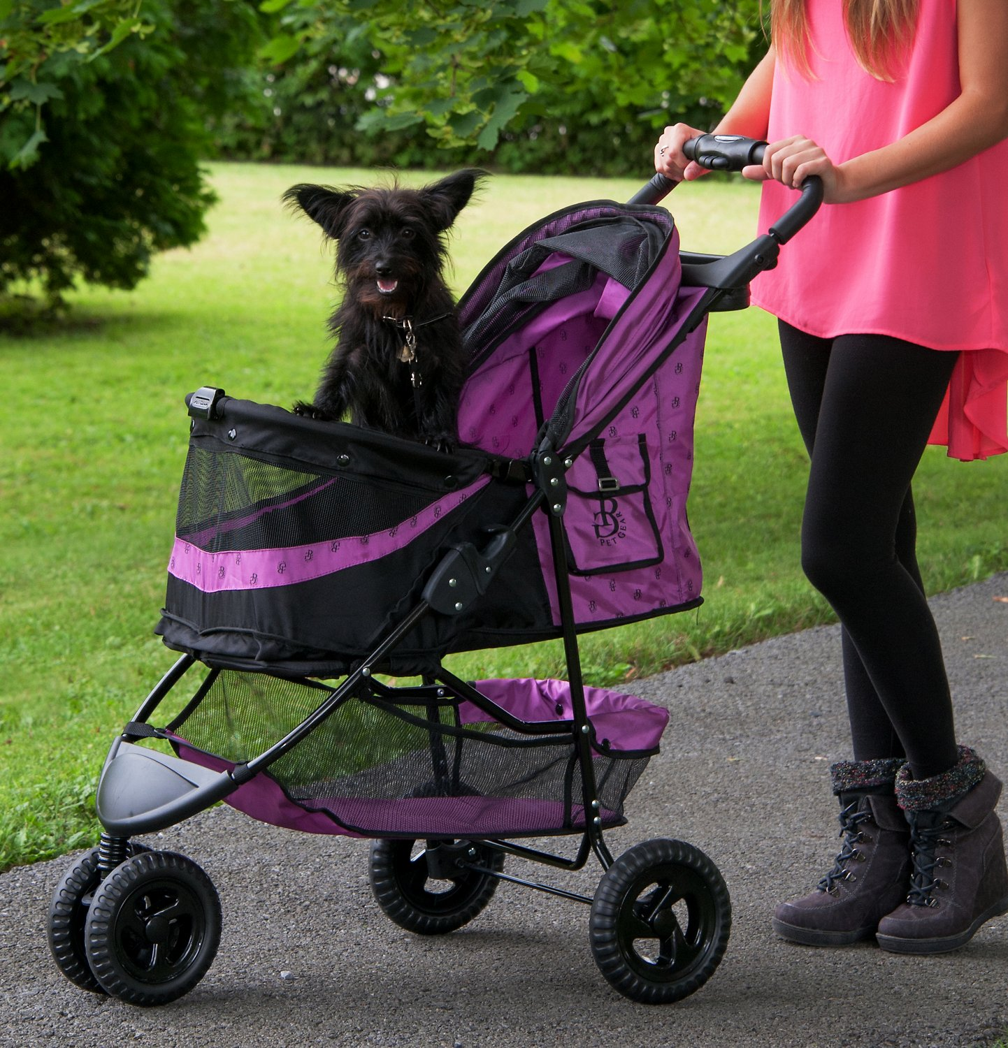 Pet Gear Special Edition No-Zip Dog & Cat Stroller, Orchid ...
