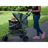 Pet Gear Special Edition No-Zip Pet Stroller, Sage