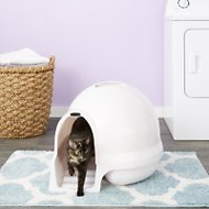 Booda Dome Cleanstep Litter Box, Pearl Linen
