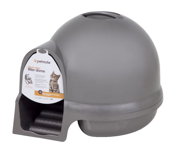 Booda Dome Cleanstep Litter Box Nickel Chewy Com