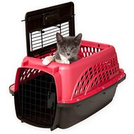 Petmate Two Door Top Load Pet Kennel, Small Rose
