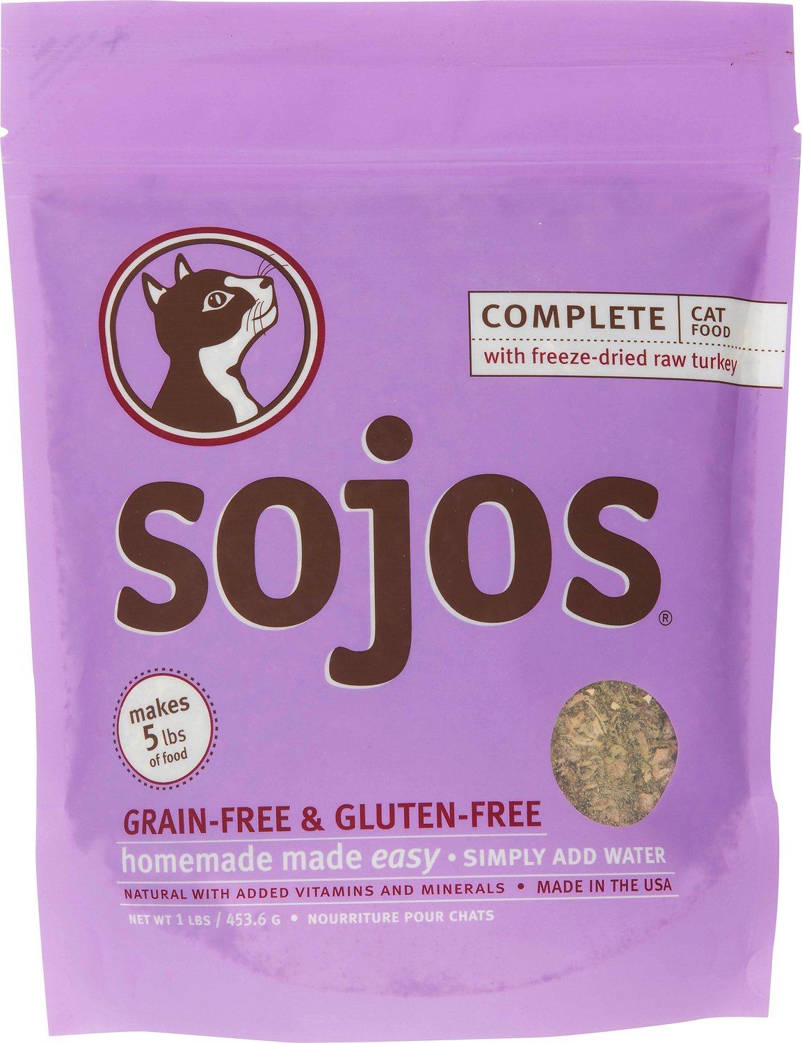Sojos complete turkey grain free freeze dried cat food 1 lb bag video forumfinder Choice Image