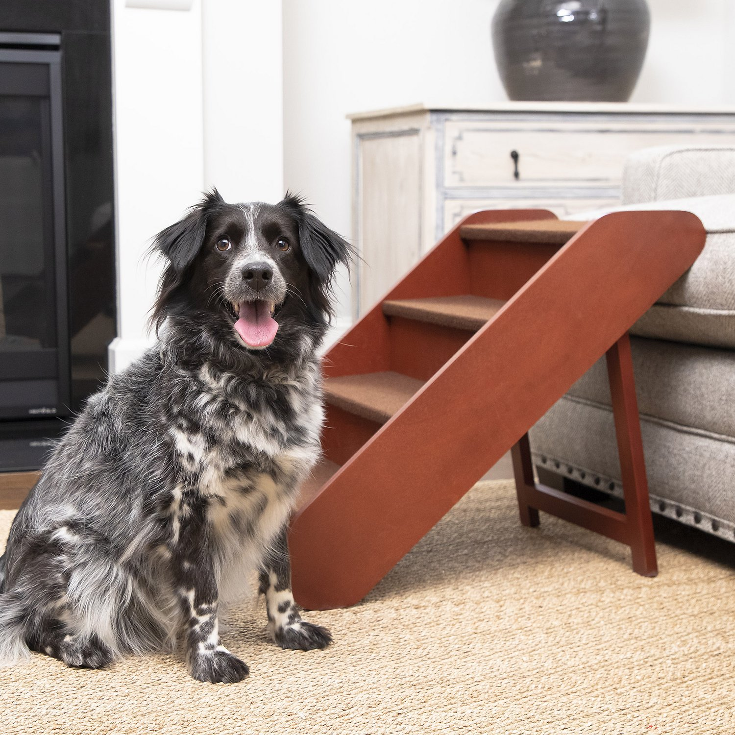 Solvit Pupstep Wood Pet Stairs Large Chewy Com