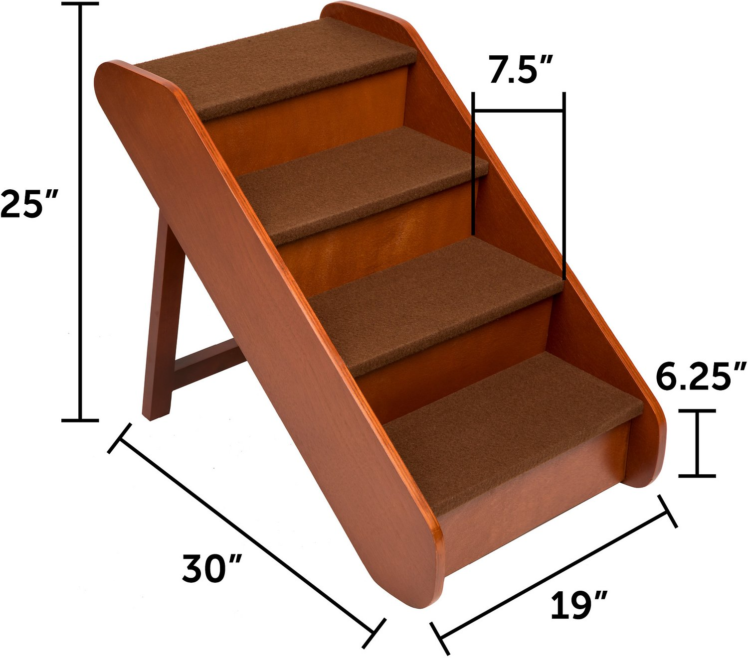 Solvit Pupstep Wood Pet Stairs X Large Chewy Com