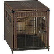 Mr. Herzher's Original Wicker Pet Residence, Dark Brown, Medium