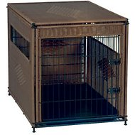 Mr. Herzher's Original Wicker Pet Residence, Dark Brown, Large