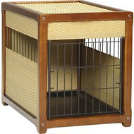 Mr. Herzher's Deluxe Wicker Pet Residence, Dark Brown, Medium