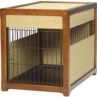 Mr. Herzher's Deluxe Wicker Pet Residence, Dark Brown, Large