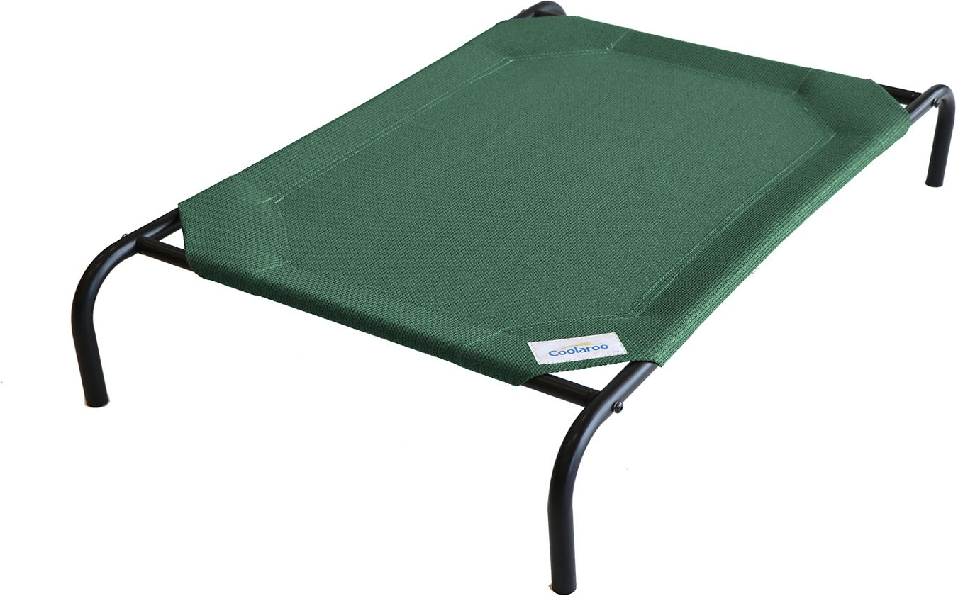 Coolaroo Steel Framed Elevated Pet Bed Brunswick Green