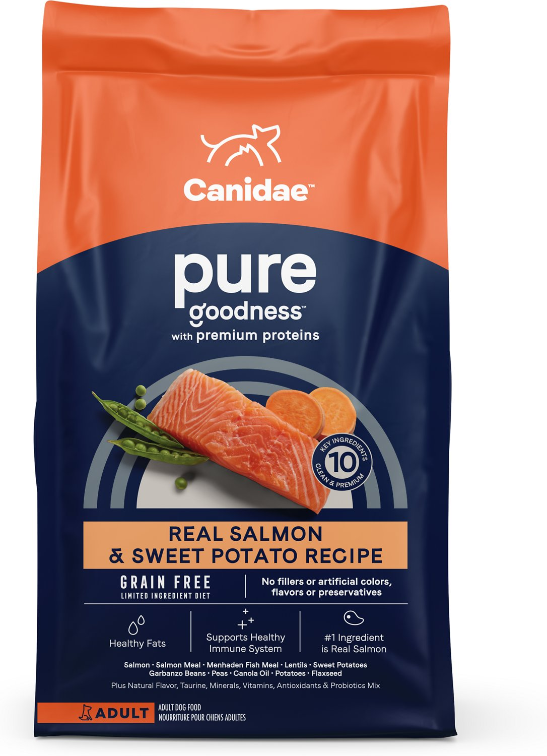 Canidae Grain Free Pure Sea With Salmon Dry Dog Food 24