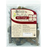 Canine Caviar Buffa-Qs Buffalo Lungs Dog Treats, 8-oz bag