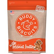 Buddy Biscuits Original Soft & Chewy with Peanut Butter Dog Treats, 20-oz bag