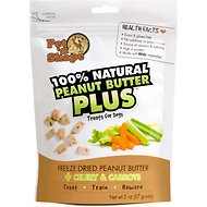 Pet 'n Shape Peanut Butter PLUS Celery & Carrots Freeze-Dried Dog Treats, 1 pack, 2-oz bag