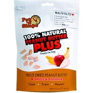 Pet 'n Shape Peanut Butter PLUS Apple & Banana Freeze-Dried Dog Treats, 2-oz bag, 1 pack