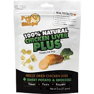 Pet 'n Shape Chicken Liver PLUS Sweet Potato & Broccoli Freeze-Dried Dog Treats, 2-oz bag, 1-pack
