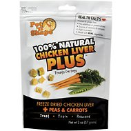 Pet 'n Shape Chicken Liver PLUS Peas & Carrots Freeze-Dried Dog Treats, 2-oz bag, 1-pack
