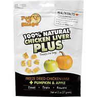 Pet 'n Shape Chicken Liver PLUS Pumpkin & Apple Freeze-Dried Dog Treats, 2-oz bag