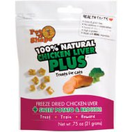 Pet 'n Shape Chicken Liver PLUS Sweet Potato & Broccoli Freeze-Dried Cat Treats, 0.75-oz bag