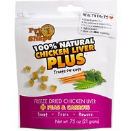 Pet 'n Shape Chicken Liver PLUS Peas & Carrots Freeze-Dried Cat Treats, 0.75-oz bag