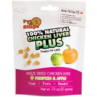 Pet 'n Shape Chicken Liver PLUS Pumpkin & Apple Freeze-Dried Cat Treats, 0.75-oz bag, 1-pack