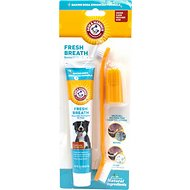 Arm & Hammer Dental Advanced Care Fresh Breath & Whitening Toothpaste & Brush Set Kit for Dogs