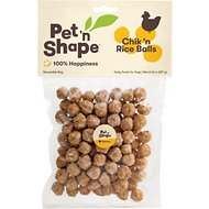 Pet 'n Shape Chik 'n Rice Balls Dog Treats, 8-oz bag