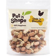Pet 'n Shape Chik 'n Biscuits Dog Treats, 1-lb tub